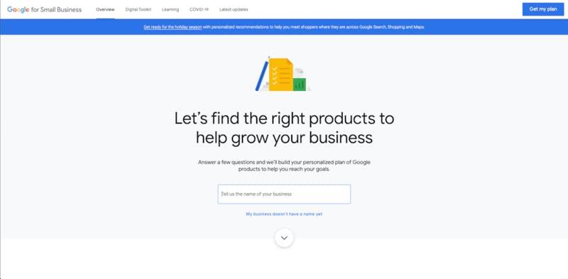 2019年6月リリースされた中小企業向け「Google for Small Business」はそれぞれの業種に一番マッチするGoogle製品を提案する