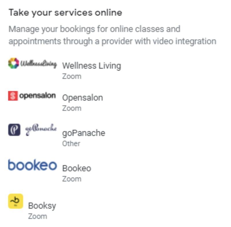 Googleで予約からオンライン講座が予約できるように