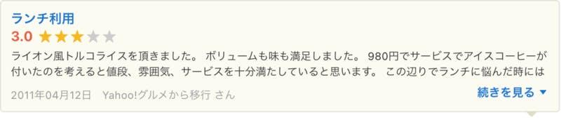 Yahoo!ロコ Yahoo!グルメ 口コミ