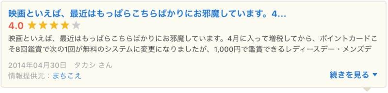 まちこえ Yahoo!ロコ 口コミ