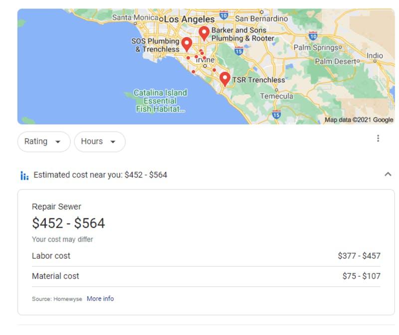 テスト中のサービスの見積もり費用を表示する機能の詳細画面
