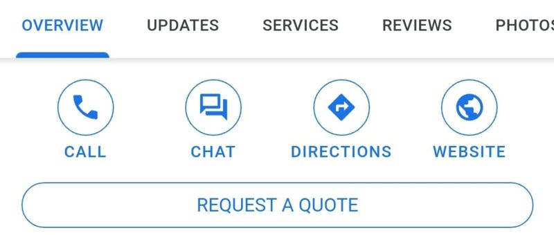 Googleがテスト中の「チャット」ボタン