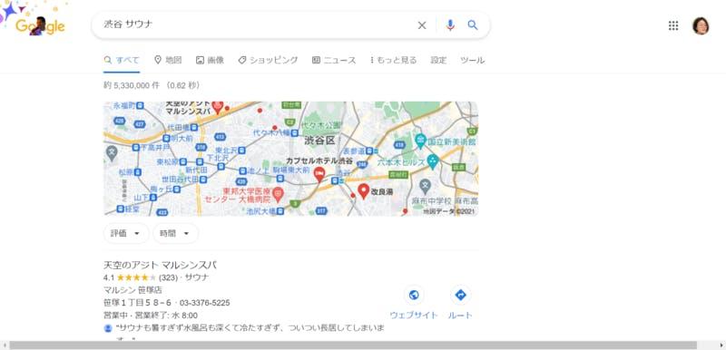 Google マイビジネス活用事例(サウナ)