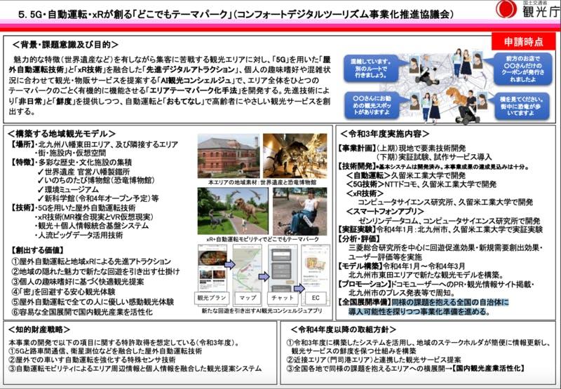 5G・自動運転・xRが創る「どこでもテーマパーク」 観光庁