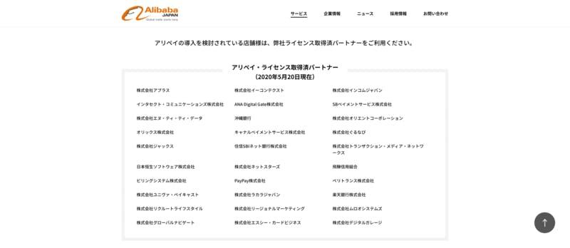 アリババ公式サイト