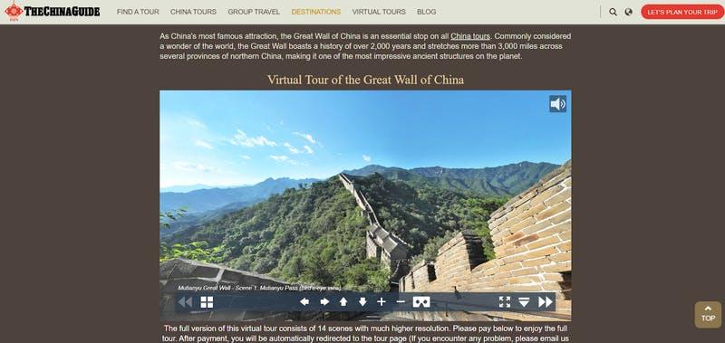 (THE CHINA GUIDE)万里の長城バーチャルツアー