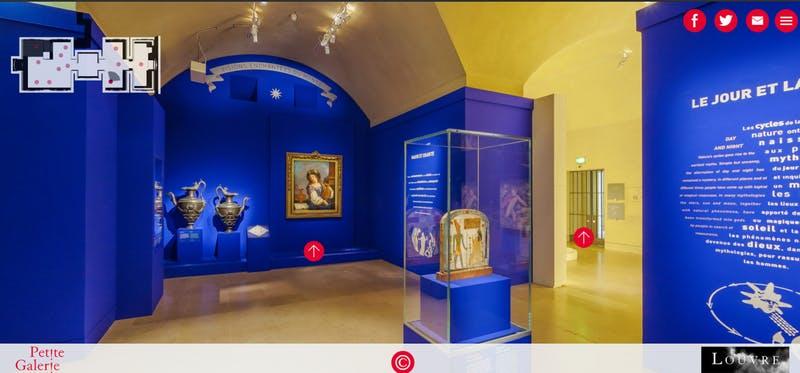 (ルーブル美術館公式サイト)ルーブル美術館オンラインツアー