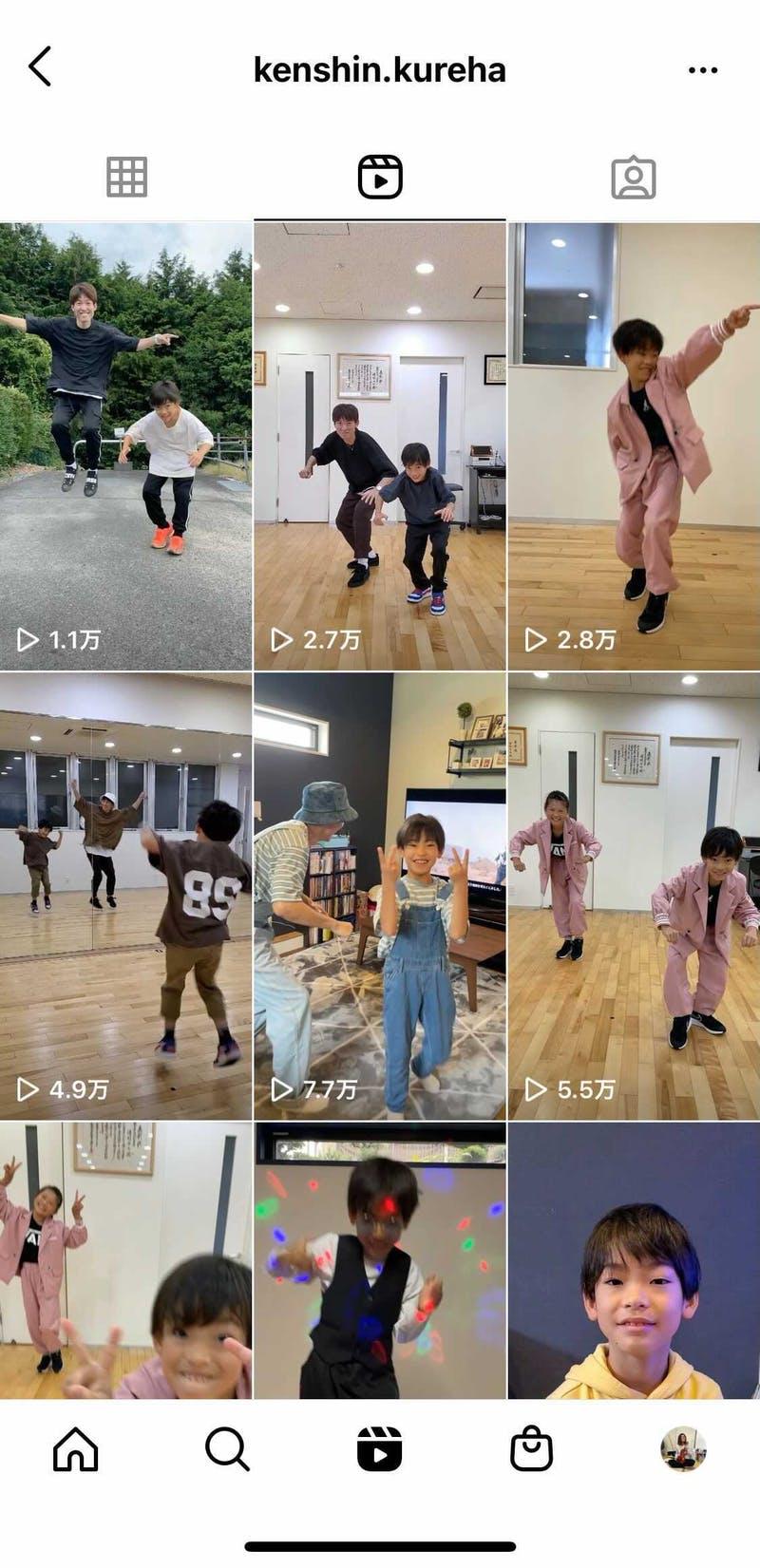 Instagramのリール機能の使用例