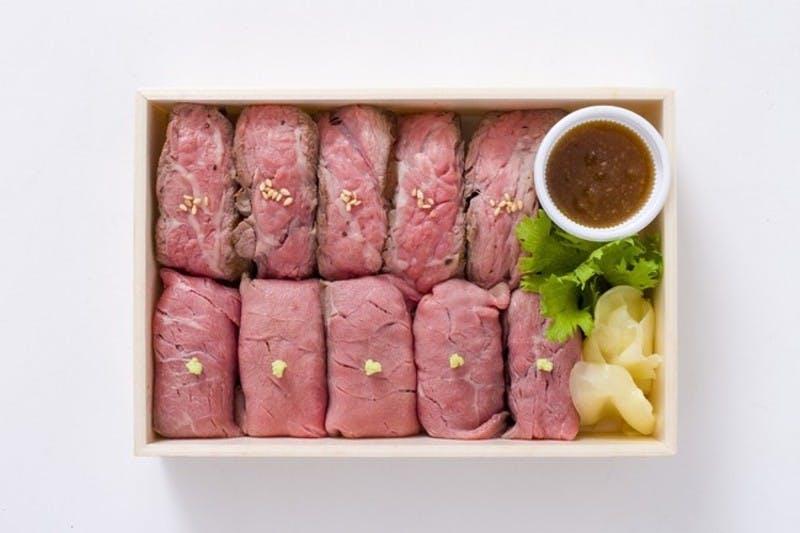 Cqree提供の法人デリバリー弁当肉寿司(霜月里)
