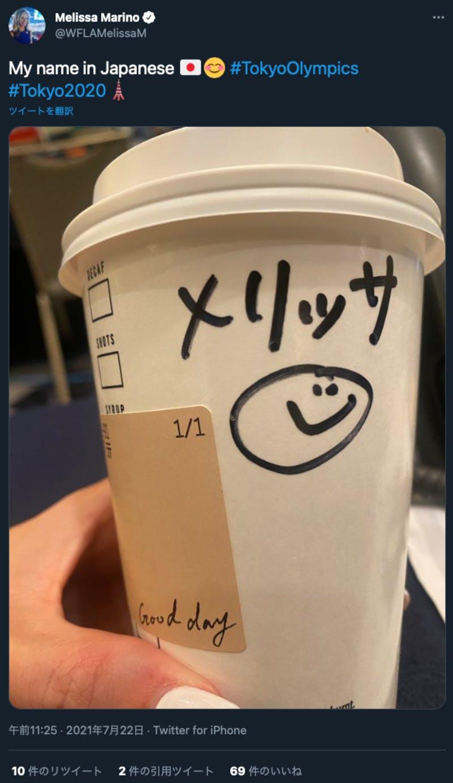 日本語で書かれている名前